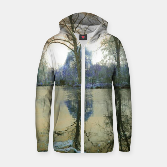 Thumbnail image of Sunset in Yellow on The Lake Zip up hoodie, Live Heroes