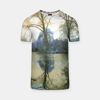 Thumbnail image of Sunset in Yellow on The Lake T-shirt, Live Heroes