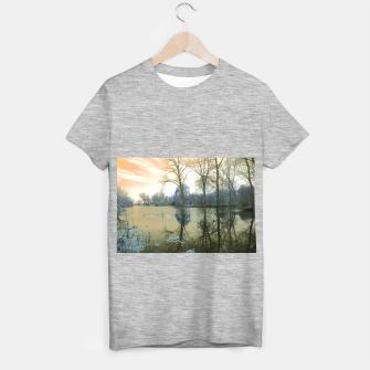 Thumbnail image of Sunset in Yellow on The Lake T-shirt regular, Live Heroes