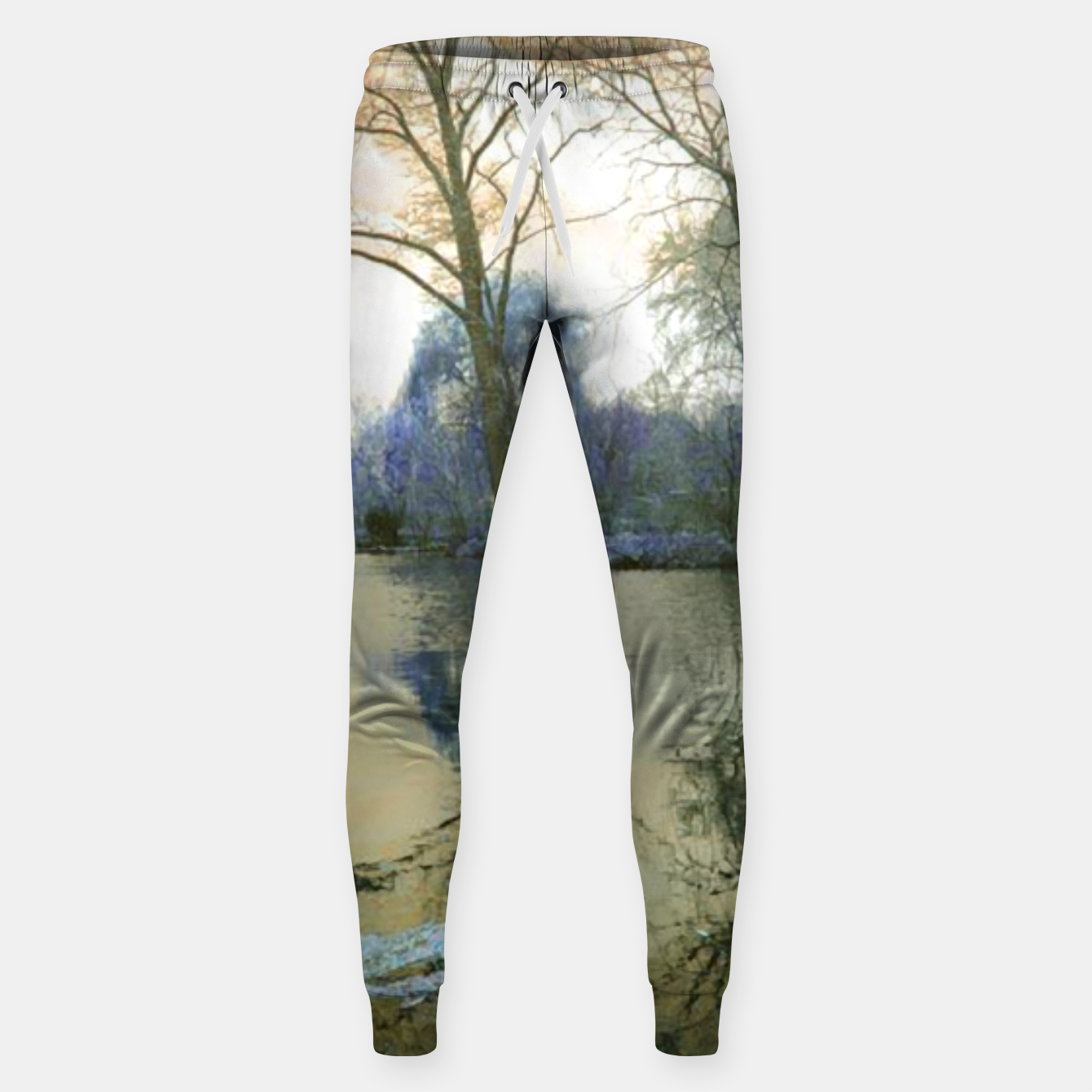 Foto Sunset in Yellow on The Lake Sweatpants - Live Heroes