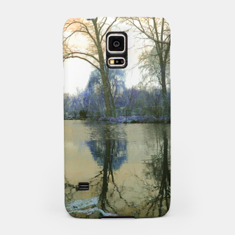 Miniature de image de Sunset in Yellow on The Lake Samsung Case, Live Heroes