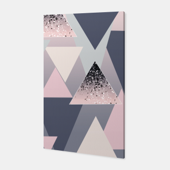 Thumbnail image of Geometric Triangles Glitter Dream #1 #minimal #decor #art Canvas, Live Heroes