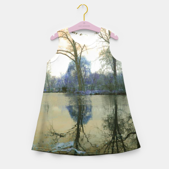 Thumbnail image of Sunset in Yellow on The Lake Girl's summer dress, Live Heroes