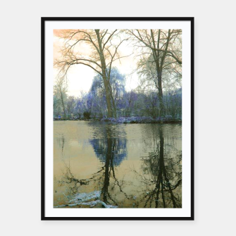 Thumbnail image of Sunset in Yellow on The Lake Framed poster, Live Heroes