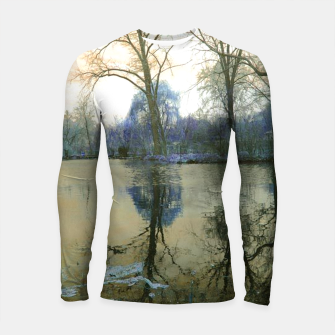 Thumbnail image of Sunset in Yellow on The Lake Longsleeve rashguard , Live Heroes