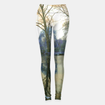 Thumbnail image of Sunset in Yellow on The Lake Leggings, Live Heroes