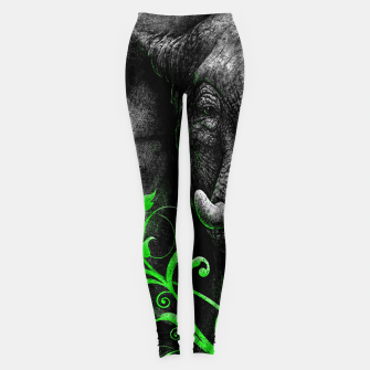 Thumbnail image of ELEPHANTIDAE (vegan animals) Leggings, Live Heroes