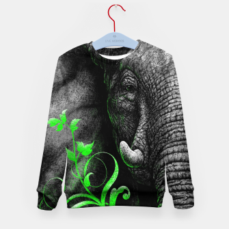 Thumbnail image of ELEPHANTIDAE (vegan animals) Kindersweatshirt, Live Heroes