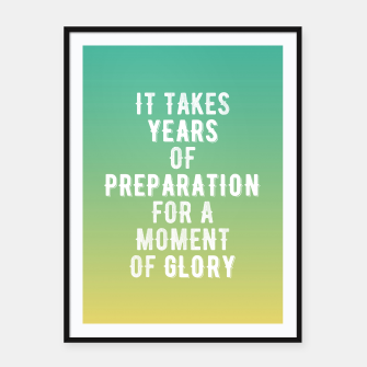Thumbnail image of Motivational - Years of glory Framed poster, Live Heroes