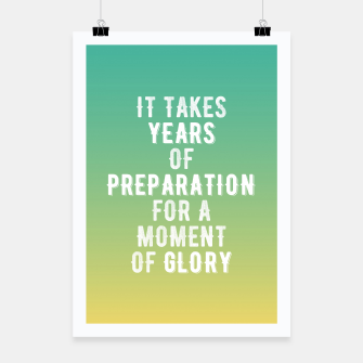 Thumbnail image of Motivational - Years of glory Poster, Live Heroes