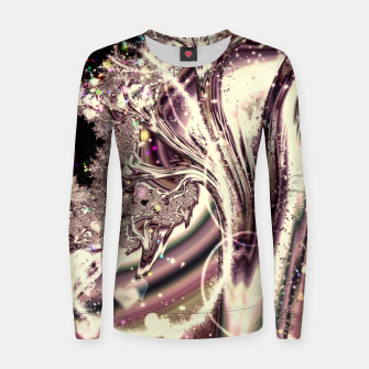 Thumbnail image of Liquid Silver Fractal Women sweater, Live Heroes