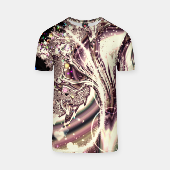 Thumbnail image of Liquid Silver Fractal T-shirt, Live Heroes