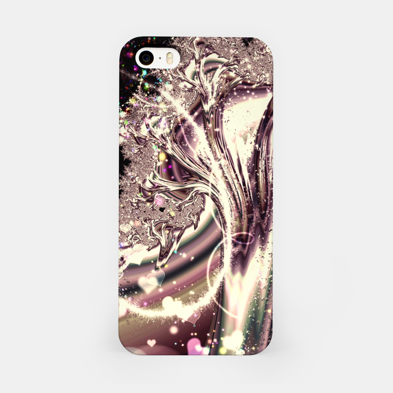 Image of Liquid Silver Fractal iPhone Case - Live Heroes