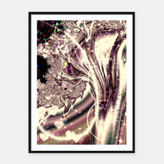 Thumbnail image of Liquid Silver Fractal Framed poster, Live Heroes
