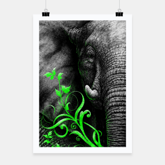 Thumbnail image of ELEPHANTIDAE (vegan animals) Plakat, Live Heroes