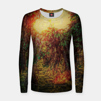 Thumbnail image of The Sun Through Fir Trees Women sweater, Live Heroes