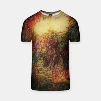 Thumbnail image of The Sun Through Fir Trees T-shirt, Live Heroes