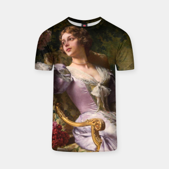 Thumbnail image of A Lady In A Lilac Dress With Flowers by Władysław Czachórski T-shirt, Live Heroes