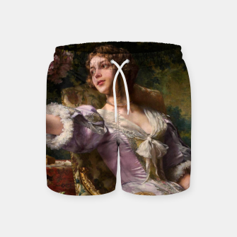 Thumbnail image of A Lady In A Lilac Dress With Flowers by Władysław Czachórski Swim Shorts, Live Heroes