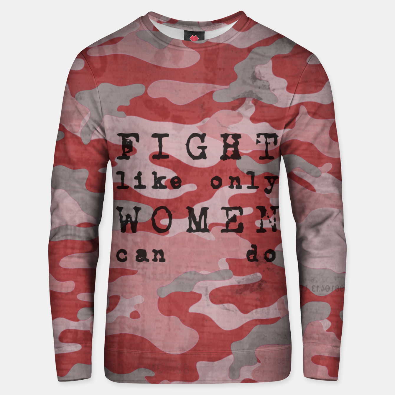 Foto Quote - fight like only women can do Unisex sweater - Live Heroes