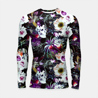 Skull in dark bloom Longsleeve rashguard thumbnail image