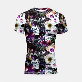 Skull in dark bloom Shortsleeve rashguard thumbnail image