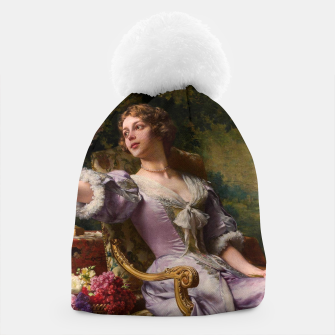 Thumbnail image of A Lady In A Lilac Dress With Flowers by Władysław Czachórski Beanie, Live Heroes