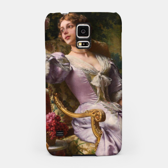 Thumbnail image of A Lady In A Lilac Dress With Flowers by Władysław Czachórski Samsung Case, Live Heroes