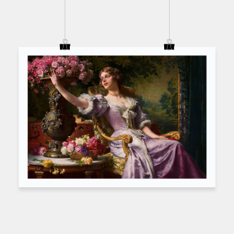 Thumbnail image of A Lady In A Lilac Dress With Flowers by Władysław Czachórski Poster, Live Heroes