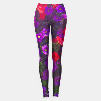 Thumbnail image of Pile of Purple Petunias Leggings, Live Heroes