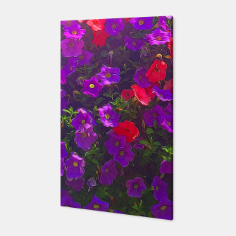 Thumbnail image of Pile of Purple Petunias Canvas, Live Heroes
