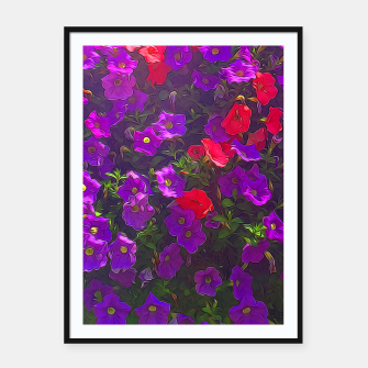 Thumbnail image of Pile of Purple Petunias Framed poster, Live Heroes