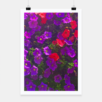 Thumbnail image of Pile of Purple Petunias Poster, Live Heroes
