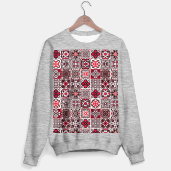 Miniaturka Red Lovely Moroccan Tiles Design. Sweater regular, Live Heroes