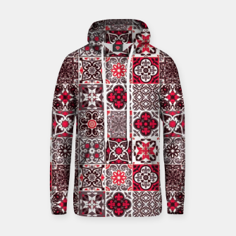 Thumbnail image of Red Lovely Moroccan Tiles Design. Hoodie, Live Heroes