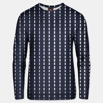 Miniatur Dotted Lines on Dark Blue Unisex sweater, Live Heroes