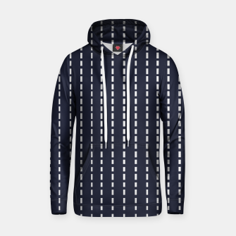 Thumbnail image of Dotted Lines on Dark Blue Hoodie, Live Heroes