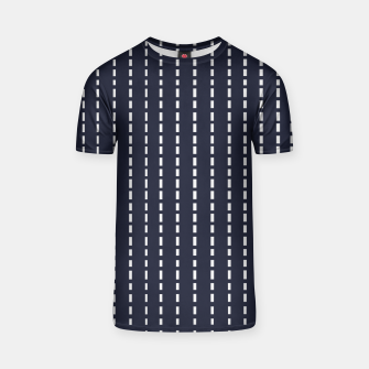 Miniatur Dotted Lines on Dark Blue T-shirt, Live Heroes