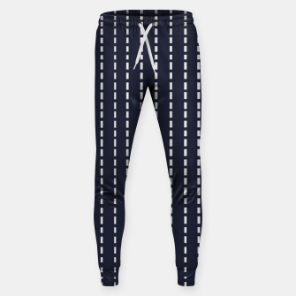 Miniatur Dotted Lines on Dark Blue Sweatpants, Live Heroes