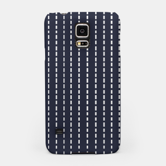 Miniatur Dotted Lines on Dark Blue Samsung Case, Live Heroes
