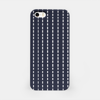 Imagen en miniatura de Dotted Lines on Dark Blue iPhone Case, Live Heroes