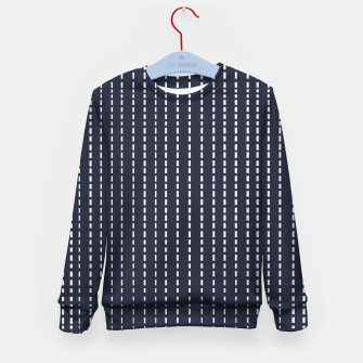 Miniatur Dotted Lines on Dark Blue Kid's sweater, Live Heroes