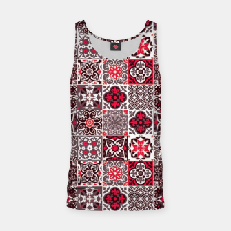 Miniaturka Red Lovely Moroccan Tiles Design. Tank Top, Live Heroes