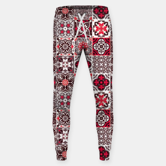Miniatur Red Lovely Moroccan Tiles Design. Sweatpants, Live Heroes