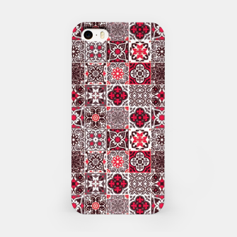 Imagen en miniatura de Red Lovely Moroccan Tiles Design. iPhone Case, Live Heroes