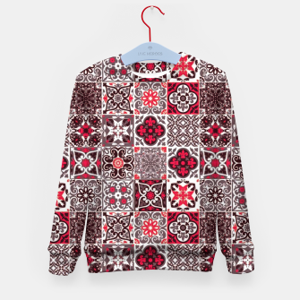 Thumbnail image of Red Lovely Moroccan Tiles Design. Kid's sweater, Live Heroes