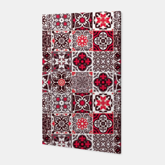 Thumbnail image of Red Lovely Moroccan Tiles Design. Canvas, Live Heroes