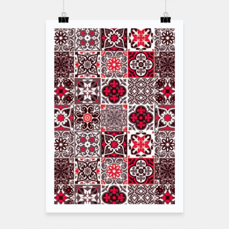 Miniaturka Red Lovely Moroccan Tiles Design. Poster, Live Heroes