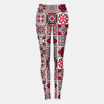 Thumbnail image of Red Lovely Moroccan Tiles Design. Leggings, Live Heroes