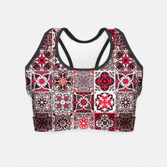 Thumbnail image of Red Lovely Moroccan Tiles Design. Crop Top, Live Heroes